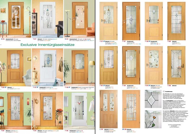 Holzinnentüren  Flyer - Exclusive Sandstrahlgläser für Holzinnentüren und ...